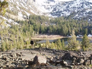 Me looking at Lily Lake in Desolation Wilderness
